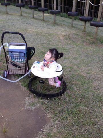 人工呼吸器を着けてから初めての公園へ!